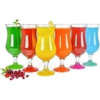 Lot de 6 verres à cocktail Hurricane 480 ml 9 variantes Verres à long drink Bar Verres Mix2