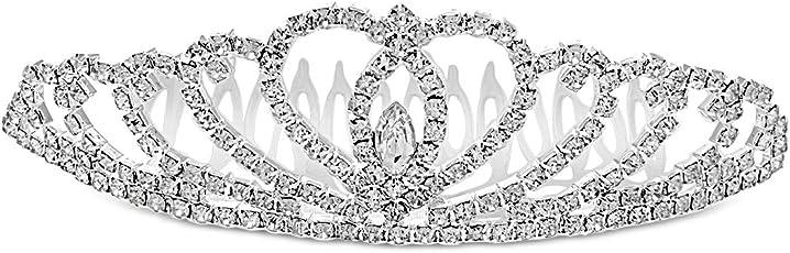 Aaishwarya Bridal Princess Crystal Tiara for Women & Girls