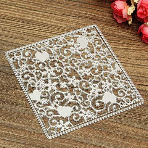 Yongse DIY Cutter Flourish Flower Metal Cutting Dies Schablonen Scrapbooking Paper Craft (Cutter Schablone Digitale)