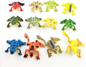 Animal Model Plastic Mini Educational Figures Kids Toy for Boys Girls Kids Toddlers Set of 12pcs Frogs