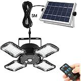 Lampes solaires pour extérieur et intérieur, 128 LED Lampe solaire avec détecteur de mouvement IP65 étanche Applique murale s
