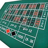 GIANT 6FT by 3 FT ROULETTE BAIZE / FELT / LAYOUT