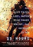 13 horas: THE SECRET soldados de bengasi - alemán policarbonato Póster con diseño de película Wall - 30 cm X 43 cm Producto nuevo