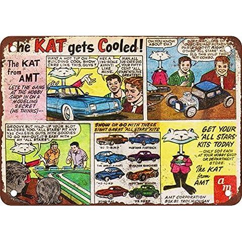 1965la Kat de AMT modelo kits aspecto Vintage reproducción Metal Tin Sign 7X 10pulgadas