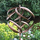 Creekwood Sphere Garden Wind Spinner-Brushed Copper (56 x 56 x 208 cm)