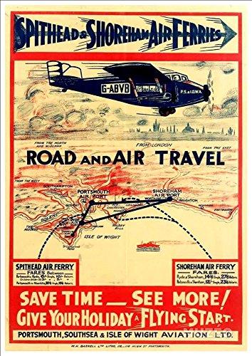 spithead-shoreham-air-ferries-wonderful-a4-glossy-art-print-taken-from-a-rare-vintage-travel-poster