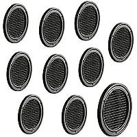 10 Stück - Möbel-Gitter Lüftungsgitter rund Abluftgitter braun für Möbel & Wohnmobil | Belüftungsgitter Ø 60 mm | Türgitter aus Kunststoff