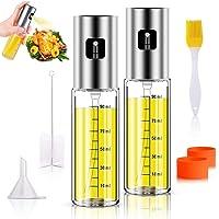 Anmyox   Set spray per olio d  39 oliva  100 ml  5 in 1  bottiglia in vetro per barbecue  insalata  arrosti  grigliare  2 pezzi