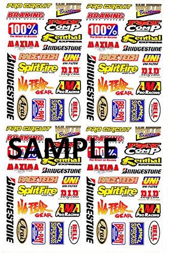 """Preisvergleich Produktbild Motocross Auto Logo Aufkleber """" Mico Aufkleber """" Satz Bogen Sticker"""