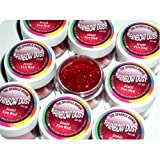 Rainbow Dust Non-Toxic Cake Glitter Decoration Sparkle Range JEWEL FIRE RED