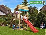 Spielturm Jungle Home - Set mit Feuerwehrstange Sandkasten Kletterturm - Jungle Gym (inkl. Holzpaket)