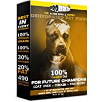Pro Breed's Complete Diet - Goat Liver + Chicken + Fish Dehydrated Puppy & Adult Dog Food (1kg = More Than 3kgs of…