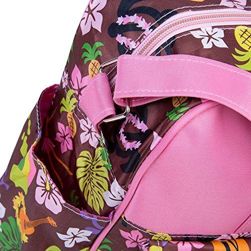 Multifunktionale Baby Windel Windel Handtasche Wasserdicht Bunt bedruckt Reißverschluss Mumienschlafsack Fruit Pattern