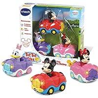 VTech – Tut Tut Bolides - Coffret Trio Disney : Minnie, Daisy et Mickey Inclus - Version FR