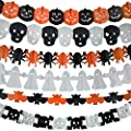 6Pcs Precious Halloween Paper Chain Garland Decoration Prop Pumpkin Bat Ghost Spider Skull Shape OH from Gardeningwill