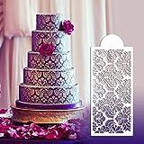 Silikonform, BZLine® Backen Werkzeugseite Dekoration Form Damast Spitze Blume Rand Fond Kuchen