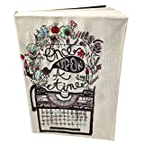 #9: Handmade Printed Diary Journal with Sequin Work Cloth Diary Personal Diary Personal Organizer /Paper 400 Pages (70 gsm)/ Executive Diary Blank Paper Travel Diary Writing Notebook Use for Unisex