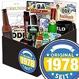 Original seit 1978 | Ostpaket für Männer | mit Kondomen, Bier, Pfeffi Likör uvm | INKL Aufkleber - Original seit 1978