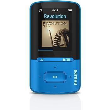 Philips GoGear Vibe SA4VBE04BN Lettore MP3 e MP4 da 4 GB, Fino a 20 Ore di autonomia, Schermo Multicolore, Blu