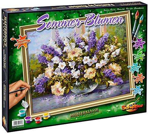 Malen nach Zahlen - Sommerblumen, 40 x 50 cm (Malvorlagen Für Den Sommer)