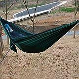 Outdoor Supplies Praktisch, multifunktional Outdoor-Nylon-TAFT-Hängematte Portable Beach Swing-Bett mit Moskitonetz, Größe: 2,6 x 1,4 m