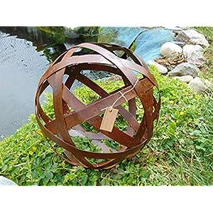 Edelrost Kugel D: 30 cm, 8 Streben, Rost Metallkugel Rostkugel Metall