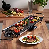 VonShef Electric XL Teppanyaki Style Barbecue Table Grill Griddle with Adjustable Temperature and 8 Spatulas, Control 2000 Watts and 8 Spatulas