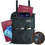Amazon Brand - Eono Brustbeutel mit Mehreren Taschen, RFID-Versteckter Sicherheitshals-Geldbeutel für Bargeld, Karten, Schlüs
