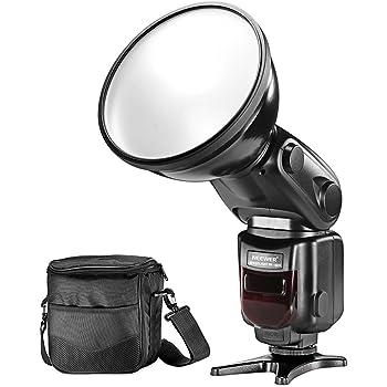 Neewer® i-TTL Sincronizzazione ad Alta Velocità HSS Slave Flash Speedlite con Paralume Diffusivo e Borsetta Protettiva per Fotocamere DSLR Nikon, ad Esempio Nikon D7200 D7100 D7000 D5500 D3200 D3100 D5000 (NW-180N)