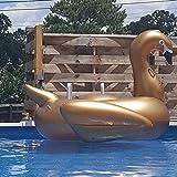 Riesiges Aufblasbares Spielzeug Riesen Pool Schwimmt Aufblasbar Golden Schwan Schwimmen Schwimmen...