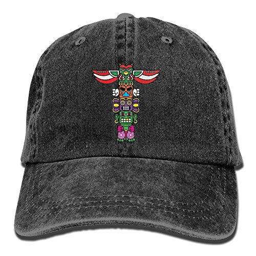 6e9451570ca34 JH SPEED Unisex Colorful Totem Washed Cotton Denim Classic Baseball Hat  Adjustable
