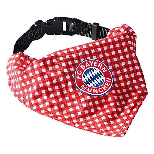 FC Bayern München Hunde Halstuch mit Halsband Karo 20375