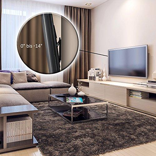 deleyCON Universal TV Wandhalterung – 26″ bis 65″ Zoll (66-165cm) – bis 14° Neigbar – Belastbar bis 35Kg – bis VESA 400x400mm – Wandabstand 25mm – TV Plasma LCD LED OLED TFT Halterung - 7