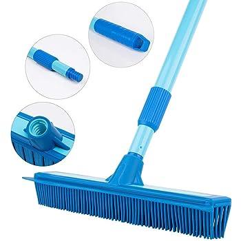 Rubber Broom Long Handle Push Broom Rubber Bristles