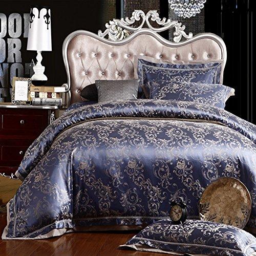 Private home textiles Decken cover sets bettwäsche kollektion european cotton jacquard vier sätze von hochzeit-D King -