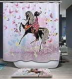 KISY Waterproof Mildew-Resistant Bath Shower Curtain Girl Ride - Best Reviews Guide