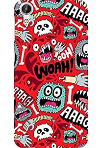 AMEZ designer printed 3d premium high quality back case cover for HTC Desire 626 (expressions)