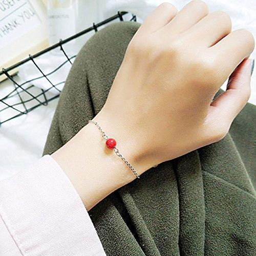 SHUCV Armband Platziert Kristall Schlüsselbein Auto Mädchen Europäischen Continental Fach Haar Erwachsene Handwerk Schmuck Ring Tibetischen, See Blau (See-fach)