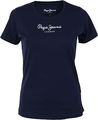 Pepe Jeans New Virginia with Logo Maglietta a Manica Corta Donna