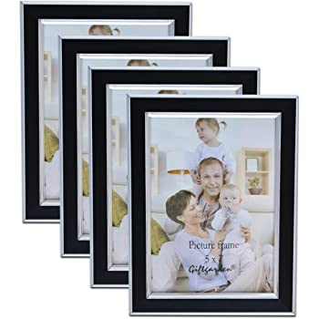 Giftgarden 7x5 Photo Frames For Wall Decor Multiple Black Picture