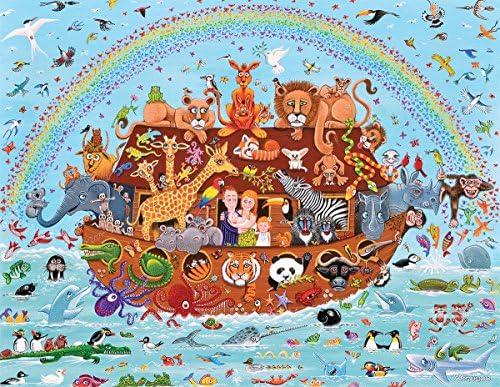 White Mountain Puzzles Noah's Friends - 300 Piece Piece Piece Jigsaw Puzzle | Conception Habile  3fed48