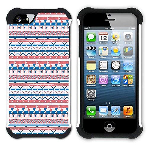 Graphic4You Tier FUR DESIGN Muster Hart + Weiche Kratzfeste Hülle Case Schale Tasche Schutzhülle für Apple iPhone SE / 5 / 5S Design #9