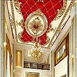 Steaean Personalizzato 3D Mural Wallpaper Soffitto Patchwork Wallpaper Decorazione della Casa Soggiorno Soffitto Foto Carta da Parati, 400 * 280 Cm