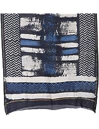 The Weave Traveller Handloom 2.25 Meters Chaderi Silk Cotton Indigo Hand Block Printed Dupatta For Women & Girl's