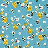 Fabulous Fabrics Baumwolljersey Fleißige Bienen | Petit