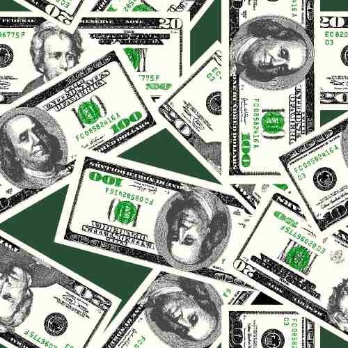 money-20-and-100-dollar-bills-on-dark-green-cotton-fabric-by-the-yard-by-fields-fabrics