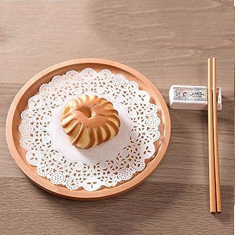 YUENLONG Vassoio minimalista creative in legno home pane piatto di frutta piatto di tè caffè round zelkova vassoio di legno , il piccolo rettangolo grande 34 * 23