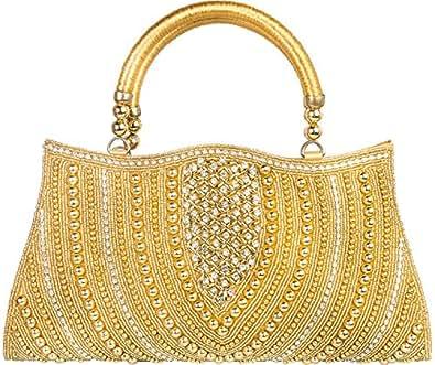 Louise Belgium Designer Hand-held Bag for Women - Silver