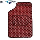 Kingsway kkmrbmdtrd50001 3D Car Floor Mat for All Cars (Pack of 5, Red)