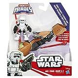Playskool Star Wars B2035AS00 - Galactic Heroes Scout Trooper Figure and Speeder Bike - Disney